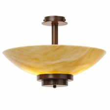 Stratton Ceiling Uplighter Amber