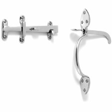 Samuel Heath Suffolk Thumb Latch Set Polished Chrome