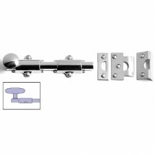 "Samuel Heath Classic Surface Door Bolt 6"" Polished Chrome"