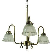 Swan Large Triple Pendant, Light Antique Brass