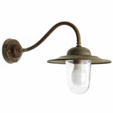 Marina Swan Neck Outdoor Wall Light Aged Copper