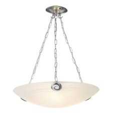 David Hunt SWP0367 Swirl Pendant Light Pewter with White Glass