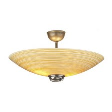 David Hunt SWF5863 Swirl Semi Flush Pendant Bronze with Amber Glass