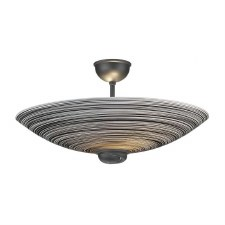 David Hunt SWF5822 Swirl Semi Flush Pendant Black