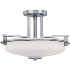 Quoizel Taylor Semi Flush Bathroom Ceiling Light Polished Chrome