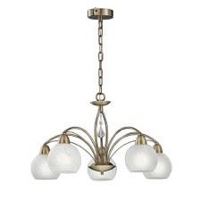 Franklite Thea Ceiling Chandelier Light 5 Lights Bronze