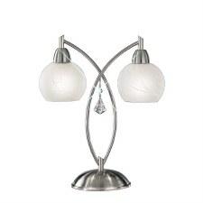 Theo Double Table Light Satin Nickel