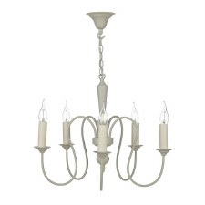 David Hunt THE052 Therese 5 Light Chandelier French Cream