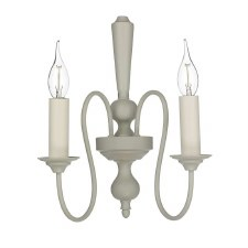 David Hunt THE092 Therese Double Wall Light French Cream