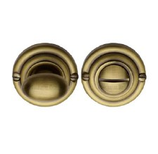 Heritage V1015 Bathroom Thumb Turn & Release Antique Brass
