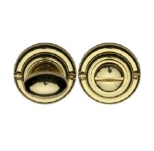 Heritage V1015 Bathroom Thumb Turn & Release Polished Brass