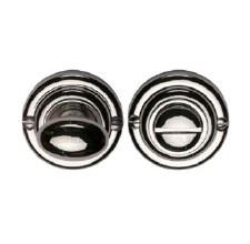 Heritage V1015 Bathroom Thumb Turn & Release Polished Nickel