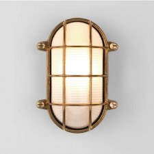 Thurso Oval Wall Light Coastal Range Natural Brass