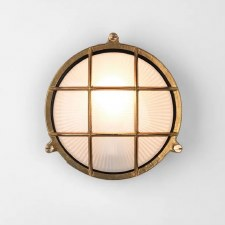 Thurso Round Wall Light Coastal Range Natural Brass