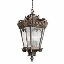 Kichler Tournai Grand Extra-Large Chain Lantern Londonderry Finish