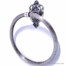 MilanoTowel Ring Antique Silver