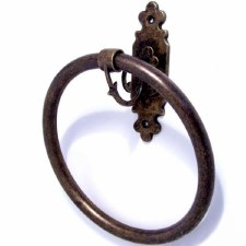 Monza Towel Ring Antique Brass
