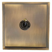 Mode Dolly Switch 1 Gang Antique Brass Lacquered