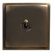 Mode Dolly Switch 1 Gang Dark Antique Relief
