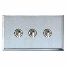 Mode Dolly Switch 3 Gang Satin Chrome