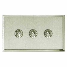 Mode Dolly Switch 3 Gang Satin Nickel