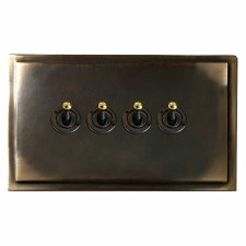 Mode Dolly Switch 4 Gang Dark Antique Relief