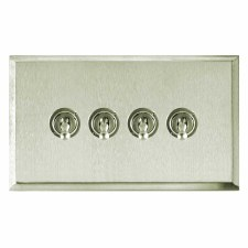 Mode Dolly Switch 4 Gang Satin Nickel