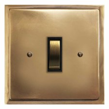 Mode Rocker Light Switch 1 Gang Hand Aged Brass