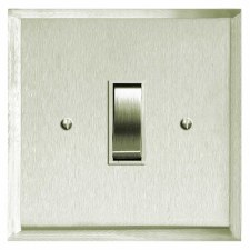 Mode Rocker Light Switch 1 Gang Satin Nickel