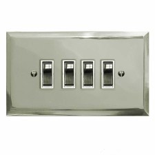 Mode Rocker Light Switch 4 Gang Polished Nickel