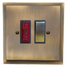 Mode Switched Fused Spur Illuminated Antique Brass Lacquered