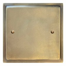 Mode Single Blank Plate Antique Satin Brass