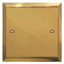 Mode Single Blank Plate Polished Brass Unlacquered