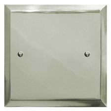 Mode Single Blank Plate Polished Nickel