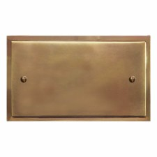 Mode Double Blank Plate Hand Aged Brass