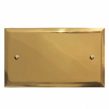 Mode Double Blank Plate Polished Brass Lacquered