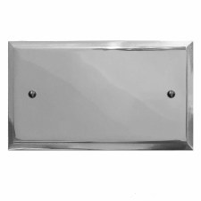 Mode Double Blank Plate Polished Chrome