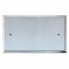 Mode Double Blank Plate Satin Chrome