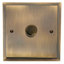 Mode Dimmer Switch 1 Gang Antique Brass Lacquered