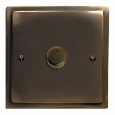 Mode Dimmer Switch 1 Gang Dark Antique Relief