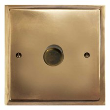 Mode Dimmer Switch 1 Gang Hand Aged Brass