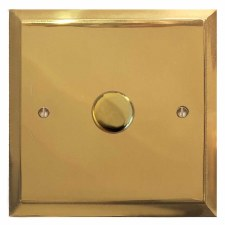 Mode Dimmer Switch 1 Gang Polished Brass Unlacquered