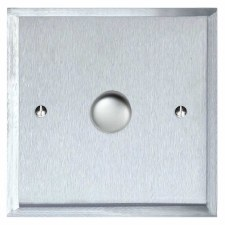 Mode Dimmer Switch 1 Gang Satin Chrome
