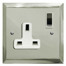 Mode Switched Socket 1 Gang Polished Nickel