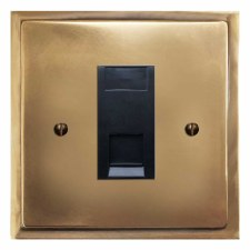 Mode Telephone Socket Secondary Hand Aged Brass