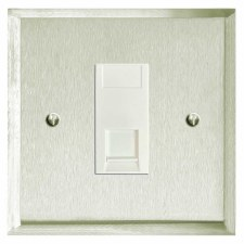Mode Telephone Socket Secondary Satin Nickel