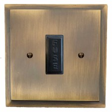 Mode Fused Spur Connection Unit 13 Amp Antique Brass Lacquered