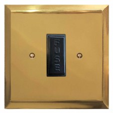 Mode Fused Spur Connection Unit 13 Amp Polished Brass Unlacquered