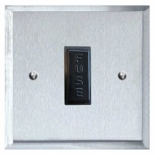 Mode Fused Spur Connection Unit 13 Amp Satin Chrome & Black Trim