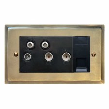 Mode Sky+ Socket Antique Satin Brass